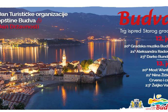 Uvodna slika za Proslavu povodom Dana Turističke organizacije opštine Budva i Dana državnosti